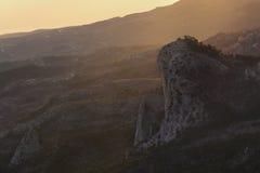 Fantastisk sikt från berget Ai-Petri Arkivfoton