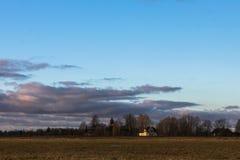 fantastisk skysolnedgång Royaltyfri Bild