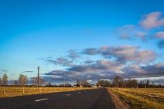 fantastisk skysolnedgång Arkivbild
