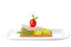 fantastisk smörgås Arkivfoto