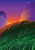 fantastisk solnedgång royaltyfri illustrationer