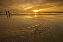 fantastisk solnedgång Arkivbilder