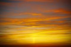 Fantastisk solnedgång i Champagne, Europa Arkivfoton