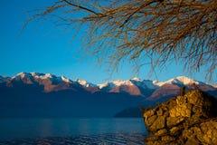 Fantastisk solnedgång i Dorio Royaltyfria Bilder