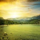 fantastisk soluppgång Arkivfoton