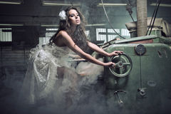 fantastisk ståendekvinna Royaltyfria Bilder