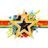 Fantastisk stjärnadesignbakgrund Arkivfoto