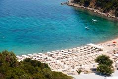 Fantastisk strand Grekland Sarti royaltyfria foton