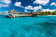 Fantastisk strand i Maldiverna arkivbilder