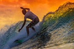 fantastisk surfarewave Royaltyfria Foton