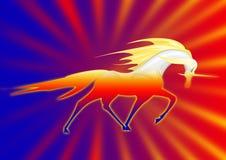 fantastisk unicorn Arkivbild