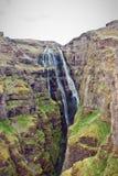 Fantastisk vattenfall i Island. Arkivfoton