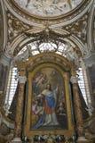 Fantastiska arkitektoniska detaljer och inre av det kyrkliga helgonet Agne Arkivbilder