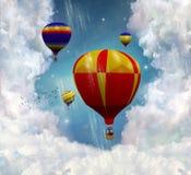 fantastiska ballons stock illustrationer
