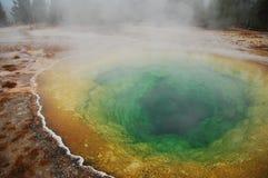 Fantastiska färgrika Hot Springs Arkivfoton
