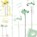 Fantastiska gröna och gula vallmo Royaltyfri Bild