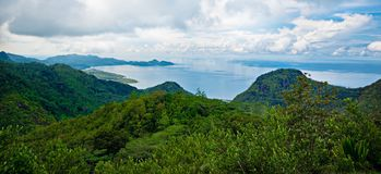 Fantastiska landskapSeychellerna öar Royaltyfri Bild