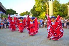 Fantastiska mexikanska dansare Arkivbild