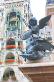 Fantastiska monument av staden av Munich Arkivfoton