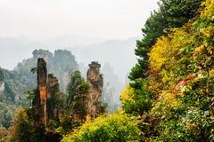 Fantastiska naturliga berg för Avatar för kvartssandstenpelare Royaltyfri Foto