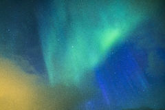 Fantastiska och unika nordliga ljus Aurora Borealis Over Lofoten Islands Royaltyfri Bild