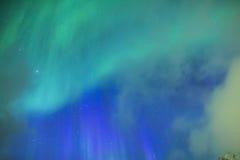 Fantastiska pittoreska unika nordliga ljus Aurora Borealis Over Lofoten Royaltyfria Foton