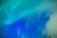 Fantastiska pittoreska unika nordliga ljus Aurora Borealis Over Lofoten Arkivbild