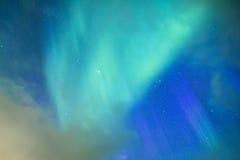 Fantastiska pittoreska unika nordliga ljus Aurora Borealis Over Lofoten Arkivbilder