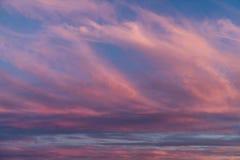 Fantastiska solnedgångmoln Fotografering för Bildbyråer