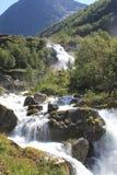 fantastiskt berg skjuten vattenfall Royaltyfri Bild