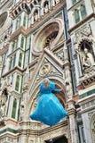 fantastiskt detailed basilicadel diden ytterberömda fioreflorence landmarken maria mest natt santa Arkivbilder