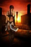 Fantastiskt henne krigare Arkivbild