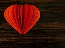 fantastiskt hjärtaillustrationpapper Arkivbild