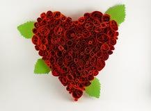 fantastiskt hjärtaillustrationpapper Arkivfoto