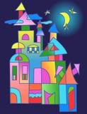 Fantastiskt hus för vektor stock illustrationer