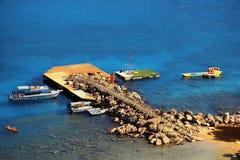 Fantastiskt läge i Lindos, Rhodes, Grekland Fotografering för Bildbyråer