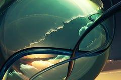 Fantastiskt landskap 3d Royaltyfri Bild