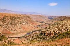 Fantastiskt landskap i Lesotho Arkivfoto