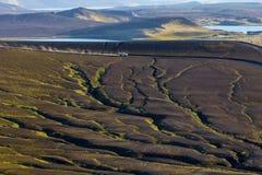 Fantastiskt landskap, Island Arkivfoton
