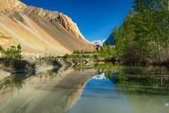 Fantastiskt landskap på pussuen Pakistan Arkivfoton