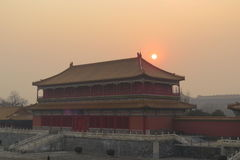 Fantastiskt ställe för Forbidden City Peking Royaltyfri Foto