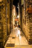 Fantastiskt ställe i den gamla staden i splittring, Kroatien royaltyfri bild