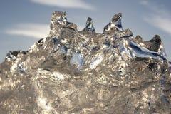 Fantastiskt stycke av is Arkivfoton