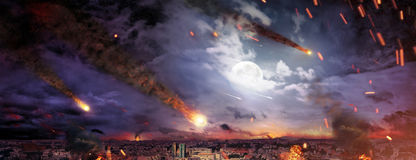 Fantasty picture of the apocalypse Royalty Free Stock Images
