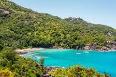 Fantastyczna Anse Ważna plaża - Mahe wyspa, Seychelles Fotografia Royalty Free