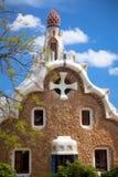 Fantastyczna architektura w Parkowym Guel, Barcelona, Hiszpania, Europa Obrazy Stock