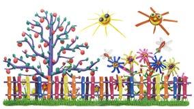 fantastyczna ogrodzenia ogródu wioska Fotografia Stock