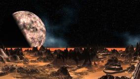 fantastyczna planeta ilustracji