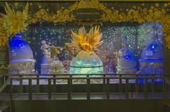 Fantastyczna scena w gablocie wystawowej Paris france Zdjęcia Stock