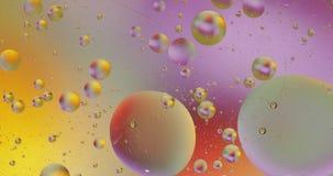 Fantastyczna struktura kolorowi b?ble Chaotyczny ruch abstrakcyjny t?o zdjęcie wideo